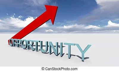 3d people - man, person with a arrow and word opportunity clipart - Search Illustration, Drawings and Vector EPS Graphics Images - csp15101710