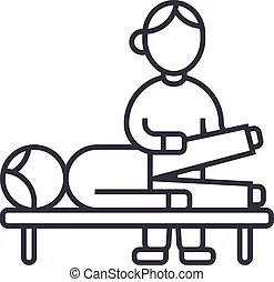 Chiropractic, massage, back pain and osteopathy icons.