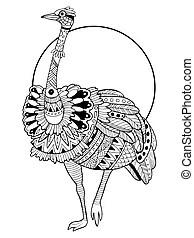 Ostrich Clipart Vector Graphics. 2,579 Ostrich EPS clip
