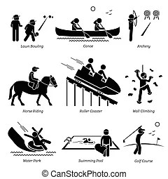 Indoor sport game athletic icon. A set of pictogram