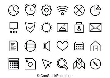 Bacteria virus black and white icons set. Bacteria virus