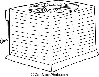 Isolated metal ac unit. Isolated metal air conditioner