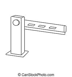Barrier icon, outline style. Barrier icon blue outline