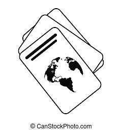 Passport identification document. Vector illustration