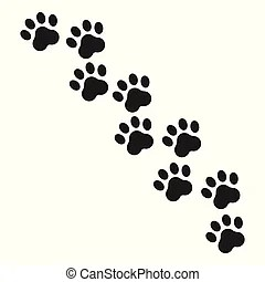 Pawprint Illustrations and Clipart. 528 Pawprint royalty