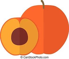 peach vector clip art royalty