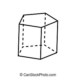 3d sketches of geometrical forms. set of geometric shapes.