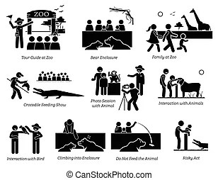 Boxing boxer stick figure pictogram. A set of pictogram