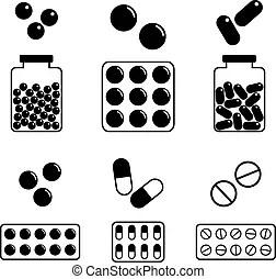 3d rendered illustration of many green ecstasy pills stock