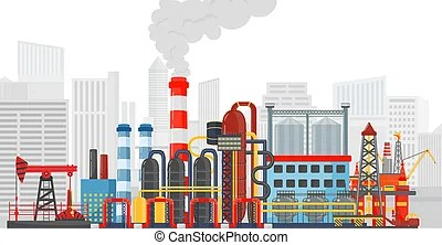 industrial landscape. oil