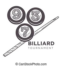 Billiard ball with royal crown. king of sport. traditional
