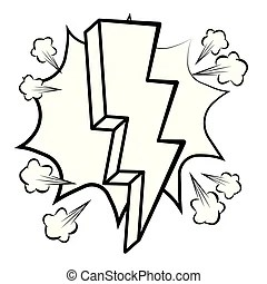 Freehand drawn black and white cartoon explosion.