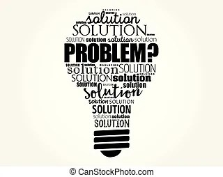 Problem solution flow chart with basic questions, business