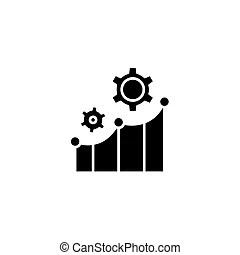 Flat illustration: productivity. Trendy flat design
