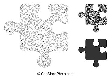Puzzle template different sizes. Collection of puzzle