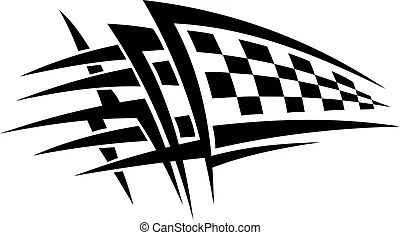 Racing car. Silhouette of racing car for sports design.