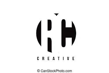 Rc r c retro vintage black white alphabet letter logo. Rc
