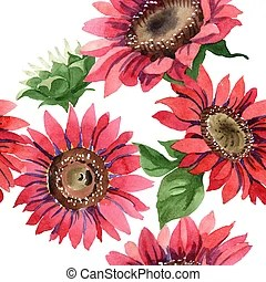 red sunflower clip art and stock