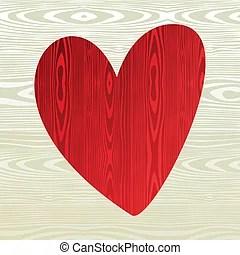 Wooden heart shape Vector illustration of a wooden cross