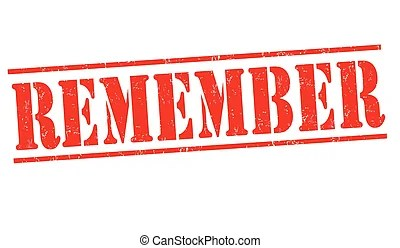 remember-stamp. grunge rubber stamp