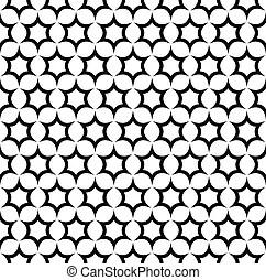 Six 6 point star pearl nacreous white seamless pattern