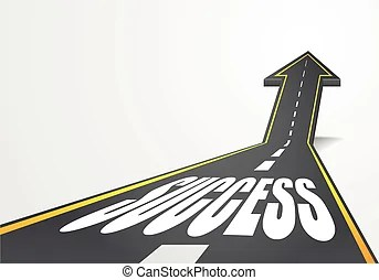 success highway curve stop sign