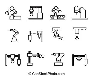 Industrial building factory signs and symbols.