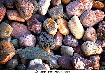pile of colorful smooth rocks