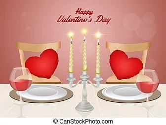 romantic dinner clipart and stock