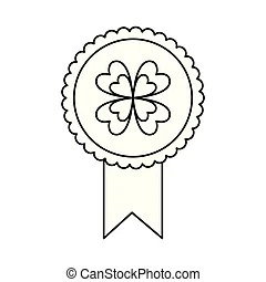 Gold award medal rosette. Gold award seal rosette