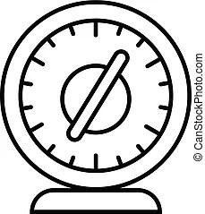 Digital stopwatch icon, outline style. Digital stopwatch