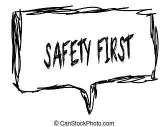 Safety slogan Clipart and Stock Illustrations. 3 new