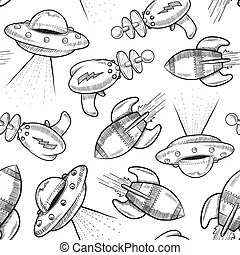Police objects sketch. Doodle style policeman objects in