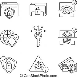 Bank account security icon. money fraud protection. credit