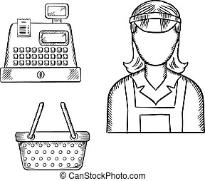 Shop assistant Stock Illustration Images. 1,011 Shop