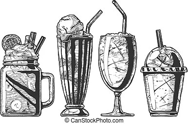 Vector coffee infographics set in vintage hand drawn style