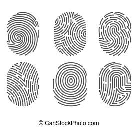 Fingerprint or fingertip print pattern vector isolated
