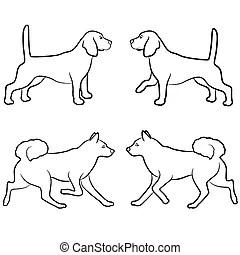 Dog outlines Clipart and Stock Illustrations. 7,633 Dog