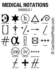 Set of black magic symbols. black magic or dark magic has