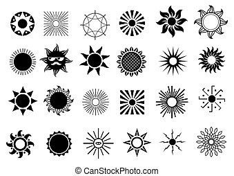 Mayan or incan symbol of a sun or star, isolated on white