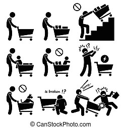 Caution safety danger accident sign. A set of pictogram