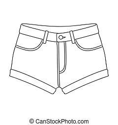 Illustration of a short pant sketch on white background.