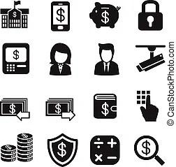 Internet banking lock. Abstract illustration representing