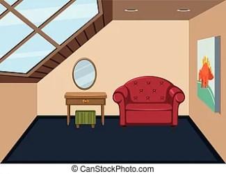 attic vector clip clipart room eps illustration simply interior illustrations artists