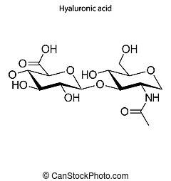 Sulfuric acid (h2so4, oil of vitriol) molecule, chemical