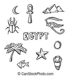 Egyptian vase Vector Clip Art Illustrations. 210 Egyptian