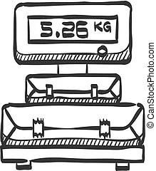 Warehouse sketch icon. Warehouse vector sketch icon