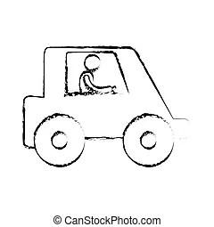 Sketch man. Vector illustration of a simple sketch