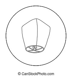 Lantern candle icon, outline style. Lantern candle icon