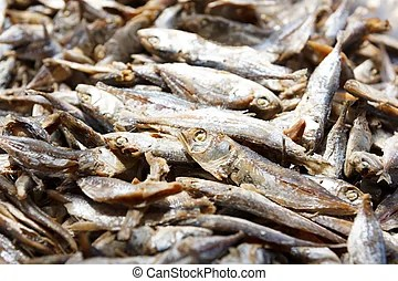 small dry fish full of calcium bone for healthy of human ...